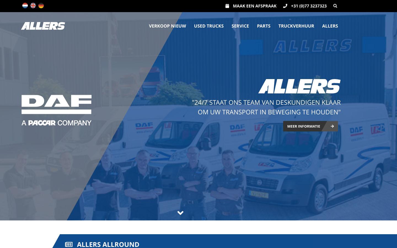 Studio29elf | Wij maakten de nieuwe responsive website voor Allers Bedrijfswagens
