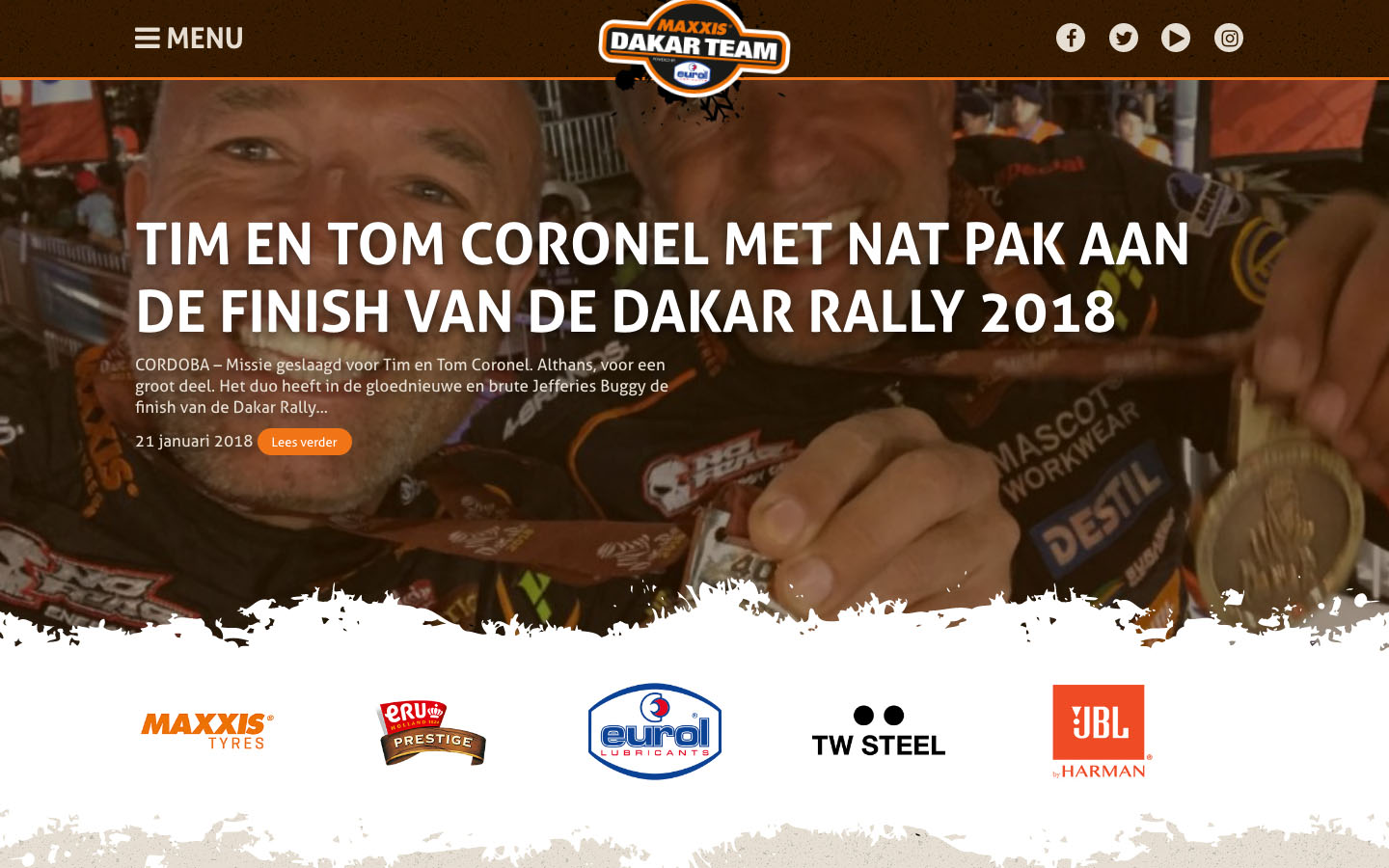Studio29elf | Website van het Dakar Rally team van Tim Coronel & Tom Coronel