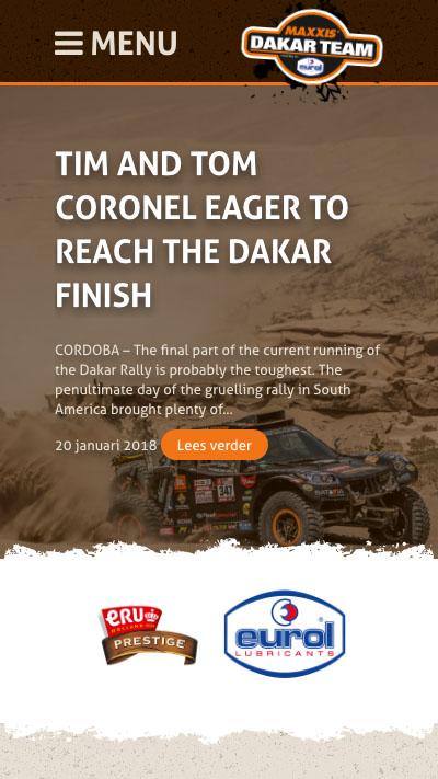 Maxxis Dakar Team | Website laten maken