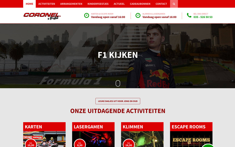 Studio29elf | Responsive website voor dé Kartbaan van Nederland! Coronel Kartracing