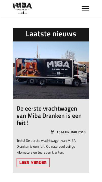 Miba Dranken | Website laten maken