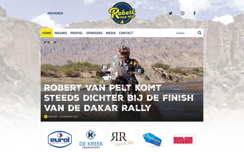 Studio29elf | Responsive website voor Dakar deelnemer Robert van Pelt